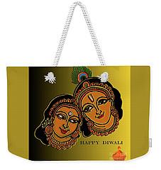 Weekender Tote Bag featuring the digital art Happy Diwali by Latha Gokuldas Panicker