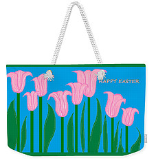Happy Easter 1 Weekender Tote Bag by Linda Velasquez