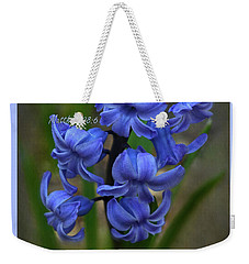 Weekender Tote Bag featuring the photograph Happy Easter Hyacinth by Ann Bridges