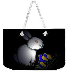 Weekender Tote Bag featuring the digital art Happy Easter by Latha Gokuldas Panicker