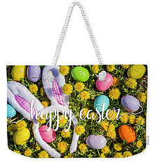 Weekender Tote Bag featuring the photograph Happy Easter by Teri Virbickis