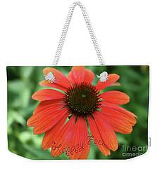 Happy Face Flower Weekender Tote Bag