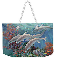 Happy Family - Dolphins Are Awesome Weekender Tote Bag