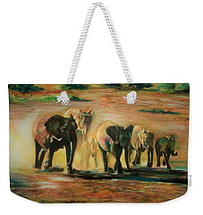 Happy Family Weekender Tote Bag by Khalid Saeed