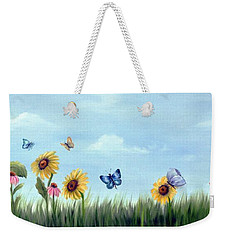 Happy Garden Weekender Tote Bag