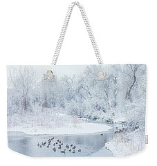 Weekender Tote Bag featuring the photograph Happy Geese by Darren White