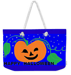 Happy Halloween 1 Weekender Tote Bag by Linda Velasquez