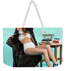 Weekender Tote Bag featuring the photograph Happy Hanukkah 2 by Lisa Piper