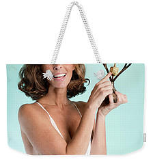Weekender Tote Bag featuring the photograph Happy Hanukkah 3 by Lisa Piper