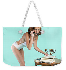 Weekender Tote Bag featuring the photograph Happy Hanukkah 5 by Lisa Piper