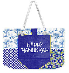 Happy Hanukkah Dreidel 1- Art By Linda Woods Weekender Tote Bag
