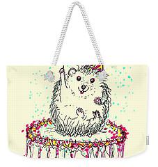 Happy Hedgehog Birthday Weekender Tote Bag