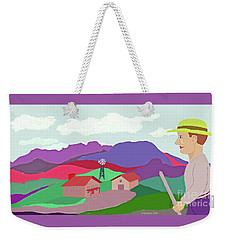 Happy Highland Farm Weekender Tote Bag