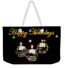 Weekender Tote Bag featuring the photograph Happy Holiday Candles by Ed Clark
