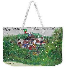 Happy Holidays From Cincinnati Ohio Weekender Tote Bag