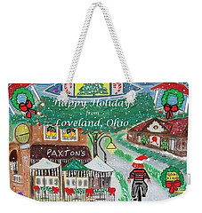 Happy Holidays From Loveland, Ohio Weekender Tote Bag by Diane Pape