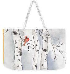 Weekender Tote Bag featuring the painting Happy Holidays by Maria Langgle