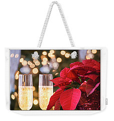 Weekender Tote Bag featuring the photograph Happy Holidays by Rima Biswas