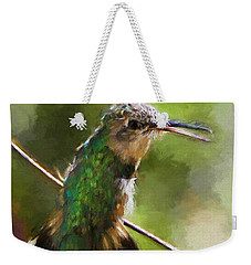 Happy Hummingbird Weekender Tote Bag