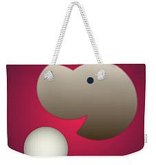 Weekender Tote Bag featuring the digital art Happy by John Krakora