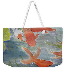 Happy Koi Weekender Tote Bag
