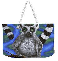 Happy Lemur Weekender Tote Bag