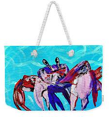 Happy Little Crab  Weekender Tote Bag by Scott D Van Osdol