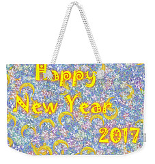 Happy New Year 2017 Weekender Tote Bag by Jean Bernard Roussilhe
