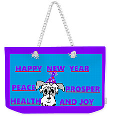 Happy New Year Weekender Tote Bag by Linda Velasquez