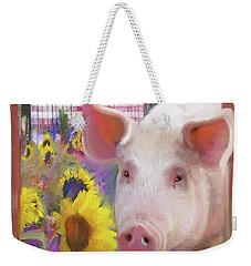 Happy Pig  Weekender Tote Bag