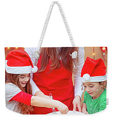 Happy Preparation For Christmas Holidays Weekender Tote Bag