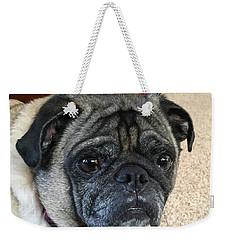 Happy Pug Weekender Tote Bag