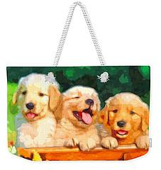 Happy Puppies Weekender Tote Bag