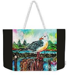 Happy Seagull Perch Weekender Tote Bag