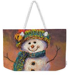 Happy Snowman Weekender Tote Bag