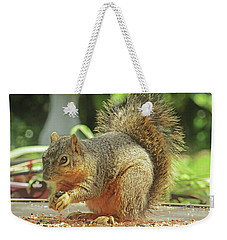 Happy Squirrel Weekender Tote Bag
