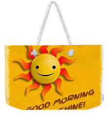 Happy Sun Face Weekender Tote Bag
