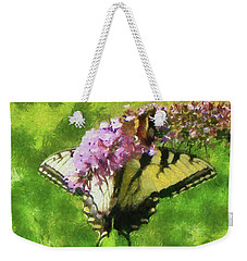 Happy Swallowtail Butterfly Weekender Tote Bag
