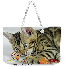Weekender Tote Bag featuring the photograph Happy Thanksgiving by Shoal Hollingsworth