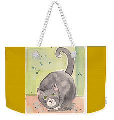 Happy Tuxedo Weekender Tote Bag by Terry Taylor