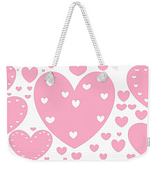 'just Hearts' Weekender Tote Bag by Linda Velasquez