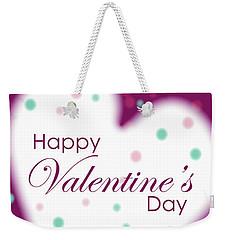 Happy Valentine's Day Weekender Tote Bag