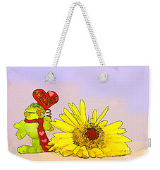 Happy Valentine's Day Weekender Tote Bag by Teresa Zieba