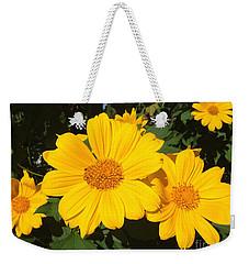 Happy Yellow Weekender Tote Bag by LeeAnn Kendall
