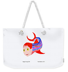 Happy Young Fish Weekender Tote Bag by Fred Jinkins