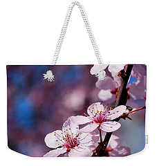 #happyfirstdayofspring Weekender Tote Bag by Becky Furgason