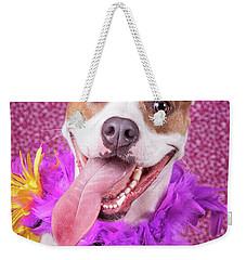 Hapy Dog Weekender Tote Bag by Stephanie Hayes