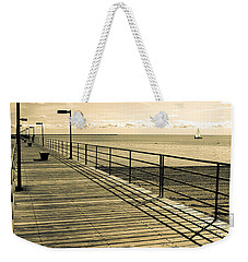 Harbor Beach Michigan Boardwalk Weekender Tote Bag