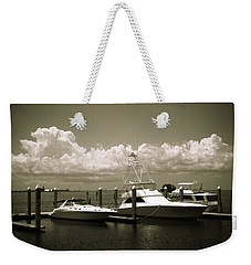 Weekender Tote Bag featuring the photograph Harbor Boats by Marilyn Hunt