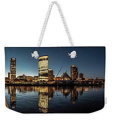 Harbor House View Weekender Tote Bag by Randy Scherkenbach